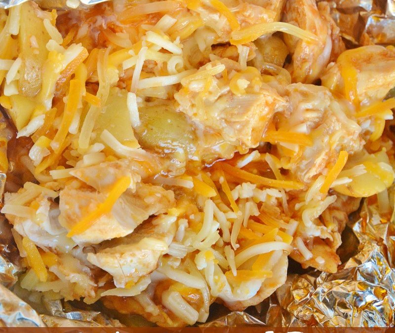 BBQ Chicken and Potato Foil Packet