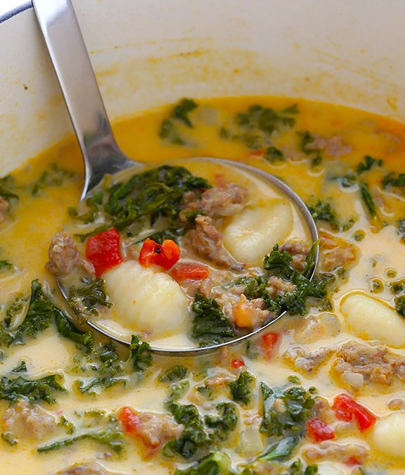Creamy Gnocchi Soup with Sausage & Kale
