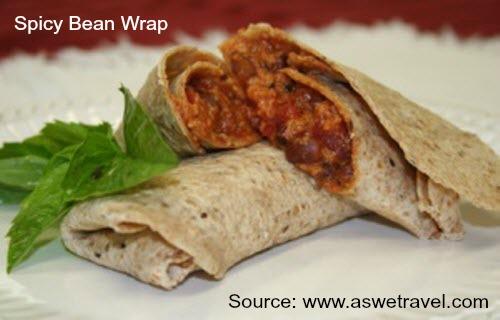 Spicy Bean Wrap