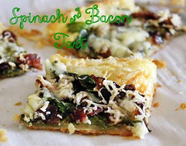 Spinach Bacon Tart