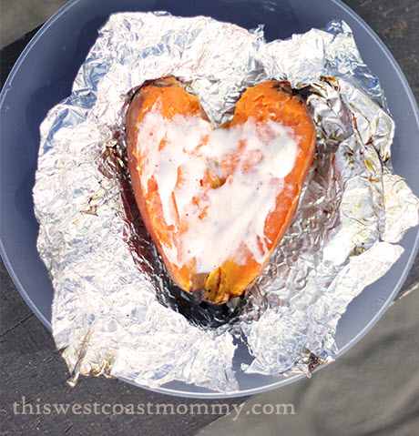 Fire Roasted Sweet Potatoes
