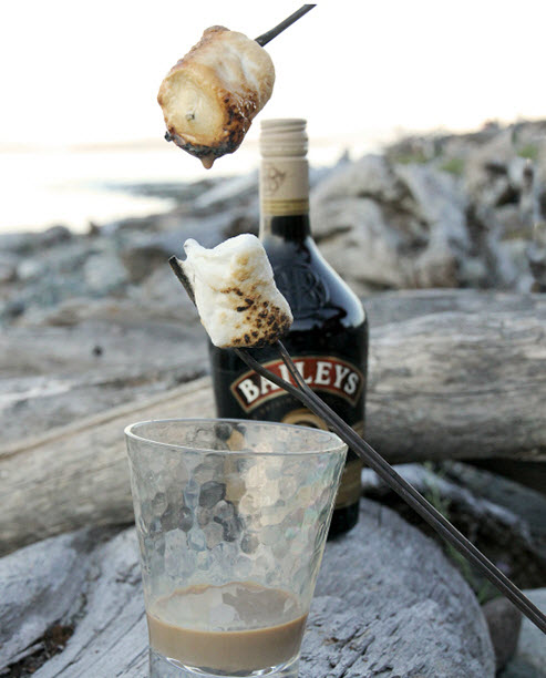 Baileys Dipped Toasted Marshmallows