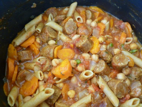 Hearty Sausage Vegetable Hot Pot