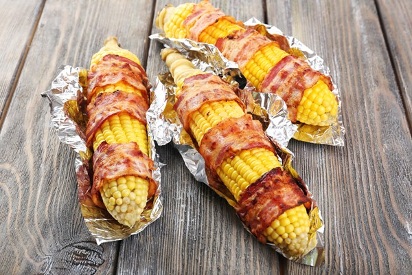 Grilled Bacon Wrapped Corn on the Cob